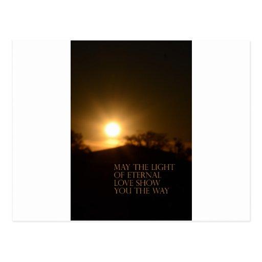 Luz eterna postal