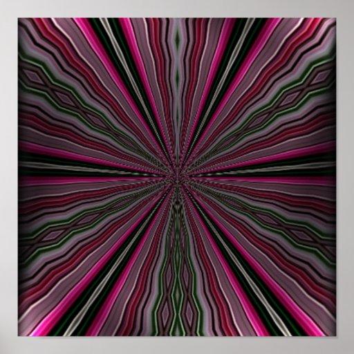 Luz extraña en modelo abstracto póster