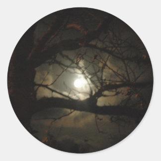 Luz fantasmagórica pegatina redonda