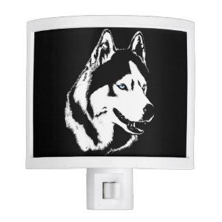 Luz fornida de la noche del perro del husky lámparas de noche