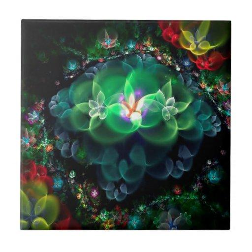 Luz fresca abstracta de la flor tejas  ceramicas