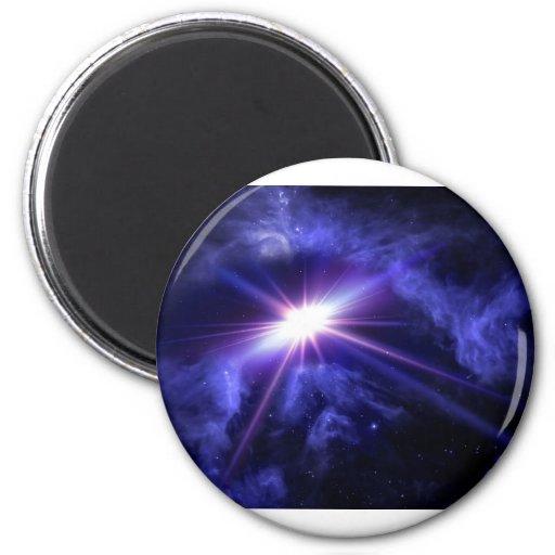 Luz impresionante del espacio imán redondo 5 cm