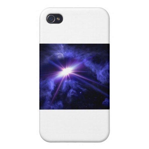 Luz impresionante del espacio iPhone 4 fundas