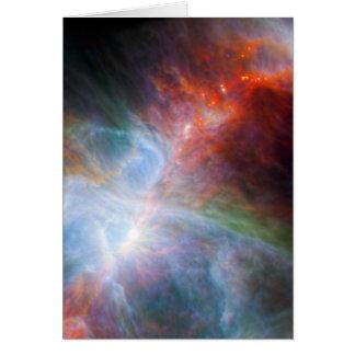 Luz infrarroja en la nebulosa de Orión Tarjeta