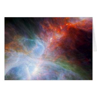 Luz infrarroja en la nebulosa de Orión Tarjeton