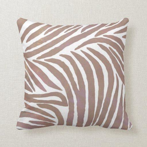 Luz inspirada del estampado de zebra subió cojin