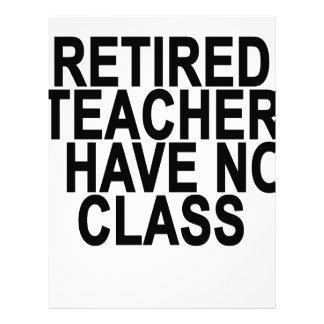 Luz jubilada anterior T-Shirt.png del profesor Membretes Personalizados