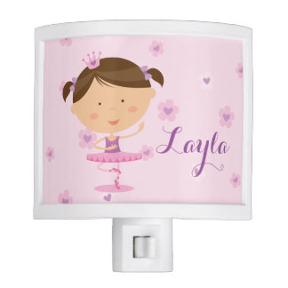 Luz linda de la noche del chica de la bailarina lámpara de noche