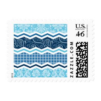 Luz linda y modelos azul marino sellos