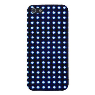 Luz llevada azul iPhone 5 carcasas