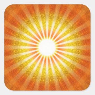 Luz mirada calcomanía cuadradase