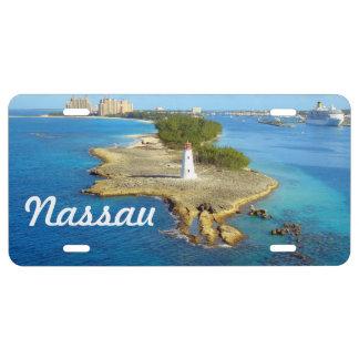 Luz Nassau de la isla del paraíso Placa De Matrícula