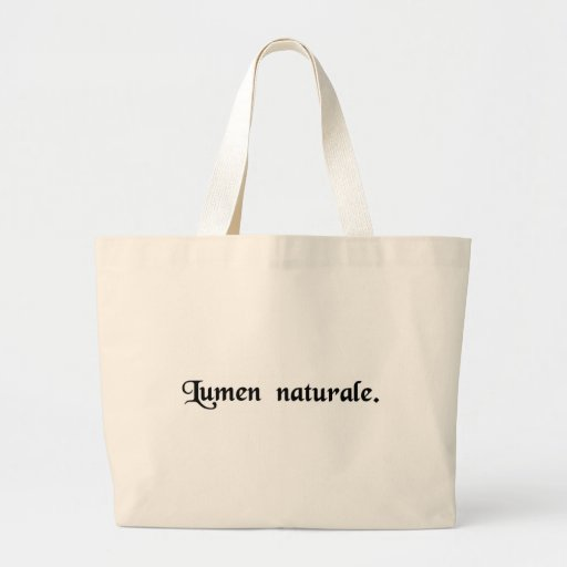 Luz natural bolsa tela grande