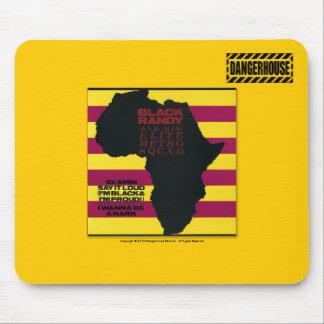 LUZ negra de Mousepad Randy Idi Amin Dangerhouse Alfombrilla De Ratón