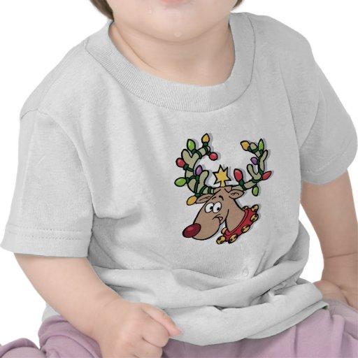Luz-Para arriba Rudolph Camiseta