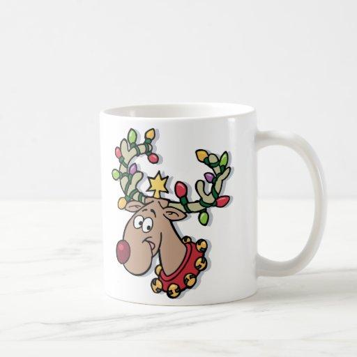 Luz-Para arriba Rudolph Tazas De Café