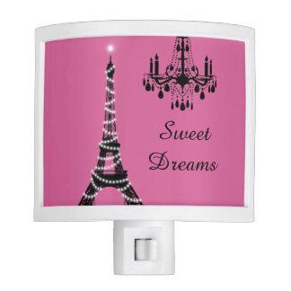 Luz parisiense de la noche lámpara de noche