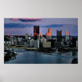 Luz pasada de Pittsburgh Poster
