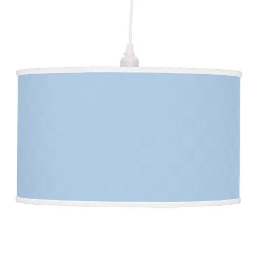 Luz pendiente azul sólida