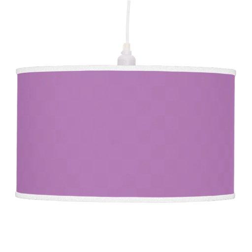 Luz pendiente púrpura sólida