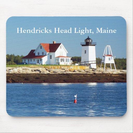 Luz principal de Hendricks, Maine Mousepad Alfombrillas De Raton