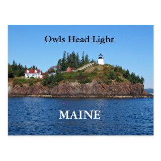 Luz principal de los búhos, postal de Maine