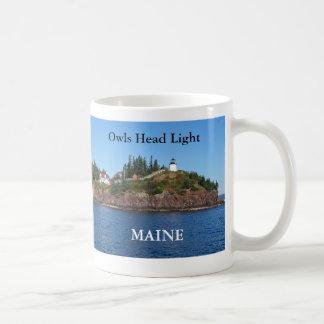 Luz principal de los búhos taza de Maine