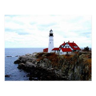 Luz principal de Portland, Maine, postal