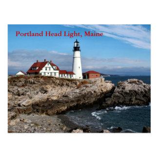 Luz principal de Portland, postal de Maine