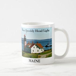 Luz principal del oeste de Quoddy, taza de Maine