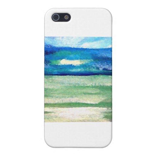 Luz productos del arte del mar - océano de Cricket iPhone 5 Fundas