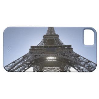 luz que brilla a través de la torre Eiffel iPhone 5 Carcasas