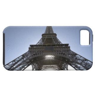 luz que brilla a través de la torre Eiffel iPhone 5 Funda