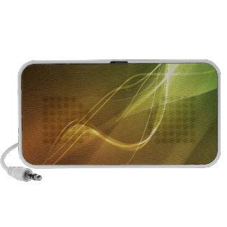 Luz que compite con estupenda de los cristales abs iPod altavoces