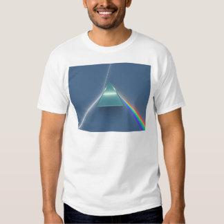 Luz que se refracta y reflectora de la prisma camisas