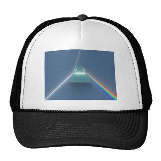 Luz que se refracta y reflectora de la prisma ópti gorros bordados