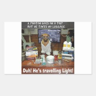 Luz que viaja del fotón del perro del conocimiento rectangular altavoces