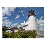 Luz quemada de la isla, postal de Maine