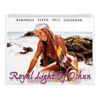 Luz real del calendario 2013 de Oshun -