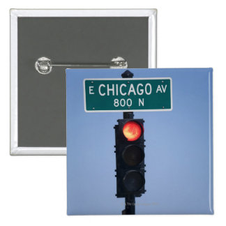 Luz roja Chicago Illinois los E E U U Pin