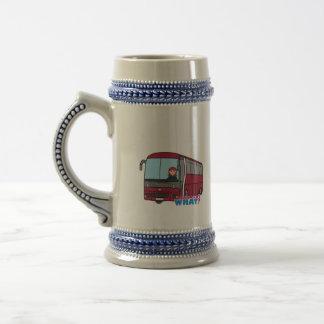 Luz/rojo del conductor del autobús jarra de cerveza