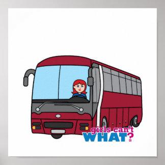 Luz/rojo del conductor del autobús póster