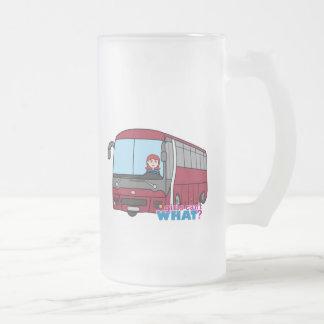 Luz/rojo del conductor del autobús taza de cristal