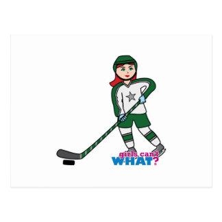 Luz/rojo del jugador de hockey postal