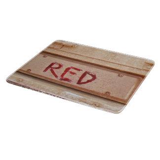 Luz rústica roja de la cola de la puerta posterior tablas de cortar