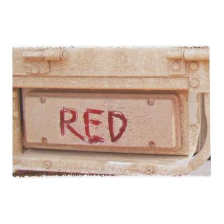 Luz rústica roja de la cola de la puerta posterior tapete individual