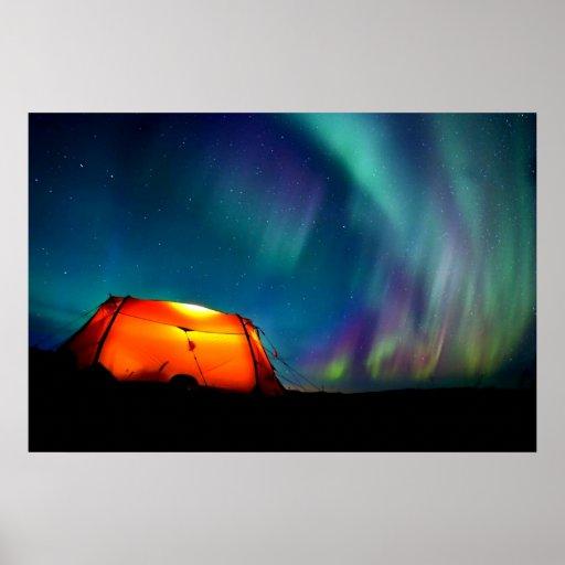 Luz septentrional Borealis Noruega por amor curati Posters