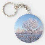 Luz solitaria Frost del árbol Llaveros Personalizados