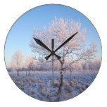 Luz solitaria Frost del árbol Reloj De Pared