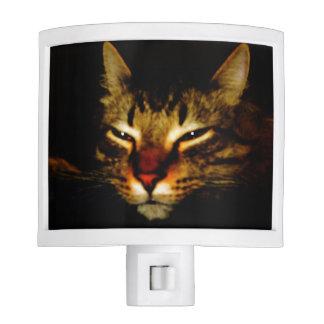 Luz soñolienta de la noche del gato lámpara de noche